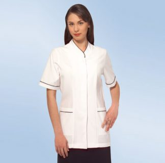 Dental Pharmacy Medical Healthcare button front trim jacket
