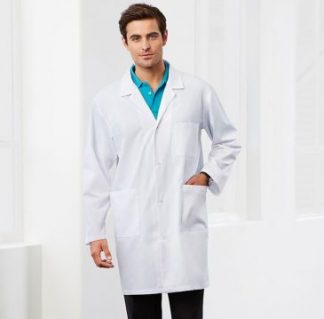 Lab coat laboratory coat dust coat healthcare coat studs