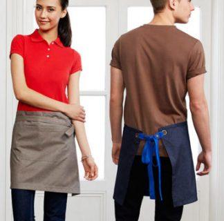 urban half waist apron pocket hospitality short waist apron