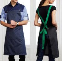 Urban Bib Apron Pocket Crossover straps hospitality apron