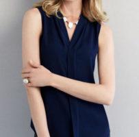 Ladies Madison Sleeveless shirt 100% Mechanical Stretch Polyester