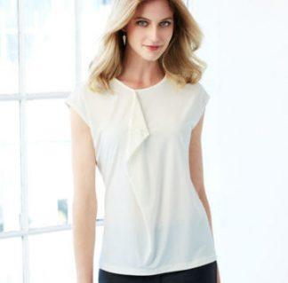 Ladies Mia Pleat Knit Top