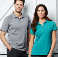 Ladies Profile Polo naturally breathable Cotton–Rich fabric blend