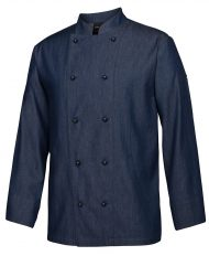 Denim L S chefs jacket